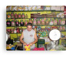 Mexican farmers market Metal Print