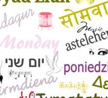 Monday Multi Language Print Sticker