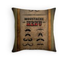 Moustache Menu - Something for Sir? Throw Pillow