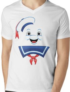Mr. Marshmallow Destruction (Happy Version) Mens V-Neck T-Shirt