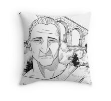 The Roman Aqueduct Throw Pillow