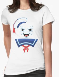 Mr. Marshmallow Destruction Womens Fitted T-Shirt