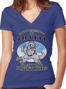 Fighting Tauntauns Women's Fitted V-Neck T-Shirt