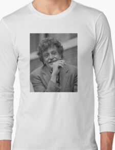 Kurt Vonnegut Black and White Portrait Long Sleeve T-Shirt