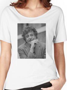 Kurt Vonnegut Black and White Portrait Women's Relaxed Fit T-Shirt