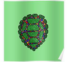 Stained Glass Turtle Poster