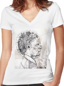 Ben Howard: On the Ninth Cloud Women's Fitted V-Neck T-Shirt