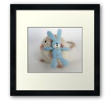 Me and my bunny. Framed Print