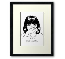 Mia Wallace Framed Print