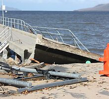 Cardwell Jetty Cyclone Yasi 2011 North Queensland, Australia by myhobby