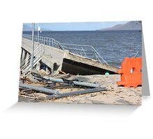Cardwell Jetty Cyclone Yasi 2011 North Queensland, Australia Greeting Card