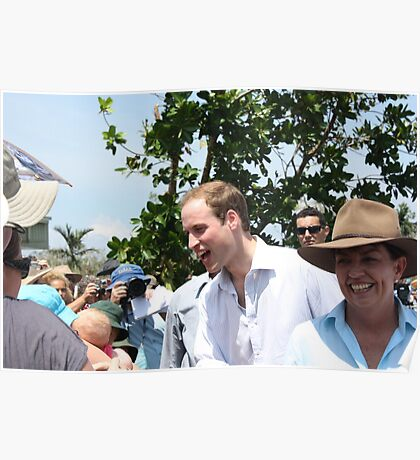 Prince William and Anna Bligh came to Cardwell, North Queensland, Australia Poster