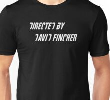 Directed by David Fincher (white) Unisex T-Shirt