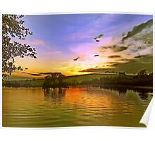 Lochy Sunset Poster