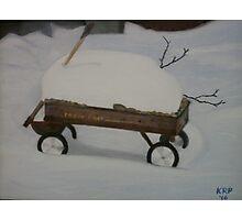 Red Wagon Photographic Print