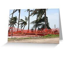 nothing left of this home after Cyclone Yasi - Tully Heads, North Queensland, Australia Greeting Card