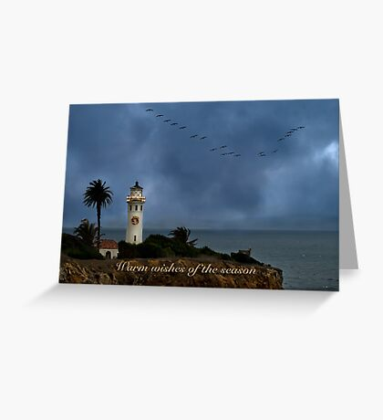 Storm brewing off Point Vicente - card 1 Greeting Card
