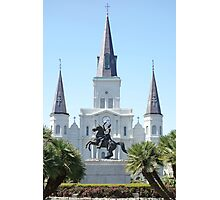 St. Louis Cathedral from Jackson Square  Photographic Print