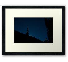A Moon rise Over a San Juan Mountain Ridge Framed Print