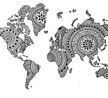 World Map Hand drawn by amy97