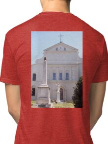 St. Louis Cathedral Back Lawn Tri-blend T-Shirt