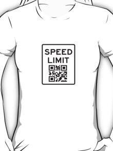SPEED LIMIT in QR CODE T-Shirt