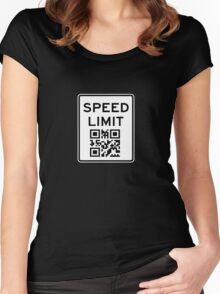 SPEED LIMIT in QR CODE Women's Fitted Scoop T-Shirt