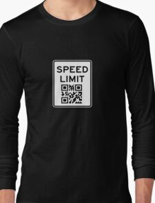 SPEED LIMIT in QR CODE Long Sleeve T-Shirt