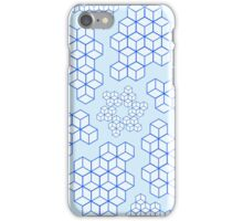 Light Blue Cubes iPhone Case/Skin