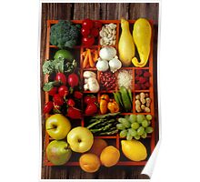 Fruits and vegetables in compartments Poster