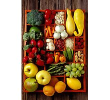 Fruits and vegetables in compartments Photographic Print