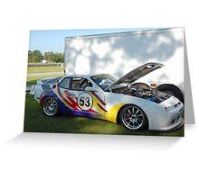 Techni-Color Porsche Greeting Card