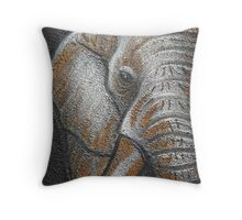 Orange Elephant Canvas Art Throw Pillow