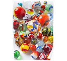 Many beautiful marbles Poster