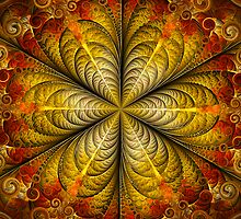 Fractal Swirly Flower  by Beatriz  Cruz