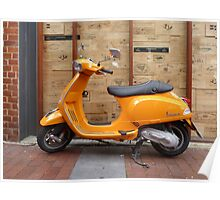 Vespa - East End, Adelaide Poster