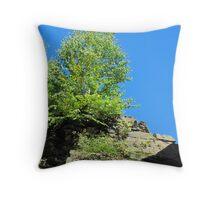 Tree On Rock Throw Pillow