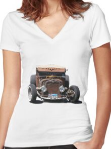Munster Cadillac Women's Fitted V-Neck T-Shirt