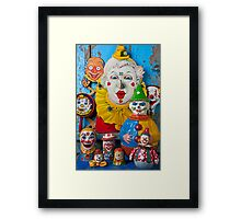 Clown toys Framed Print