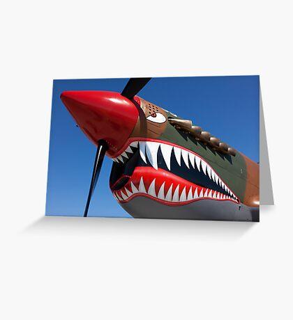 Flying tiger plane Greeting Card
