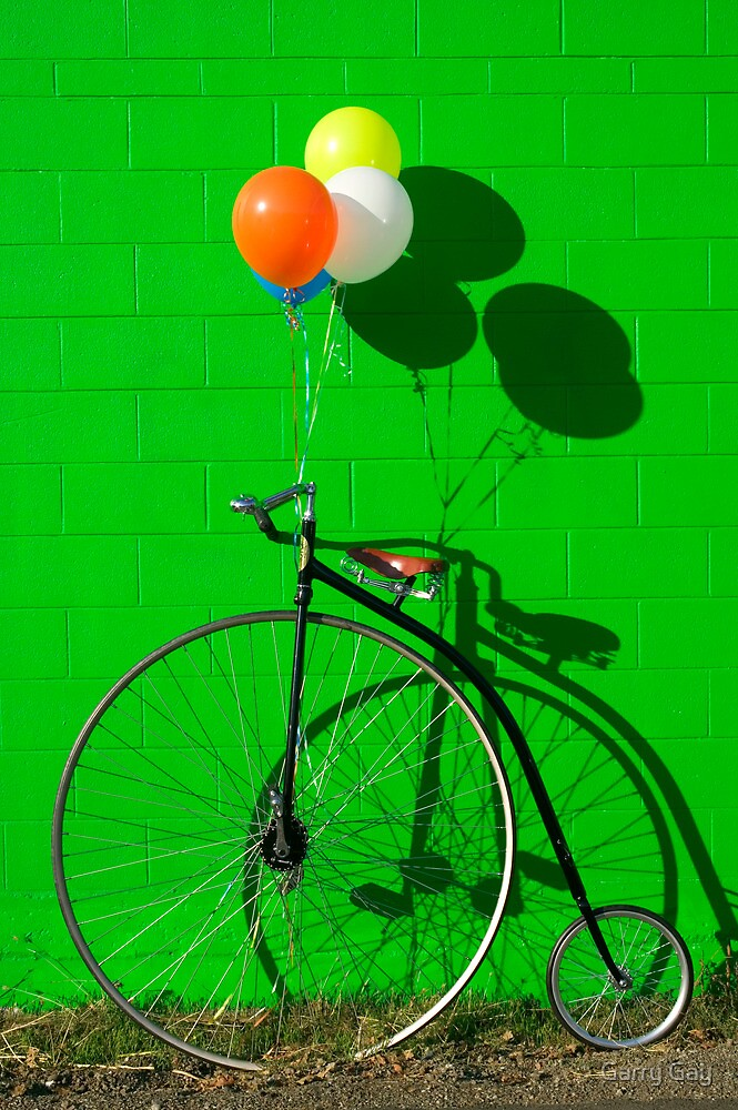 Penny farthing bike by Garry Gay