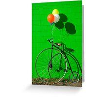 Penny farthing bike Greeting Card