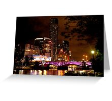 0348 Melbourne - White Night 8 Greeting Card