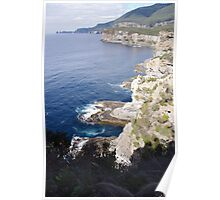 Cliffs on the Southern Coast of Tasmania Poster