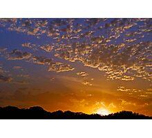 Roiling Sun Sets as Season Turns Photographic Print
