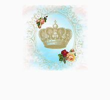 Shabby Chic Crown Womens Fitted T-Shirt