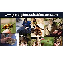 GETTING IN TOUCH WITH NATURE Photographic Print