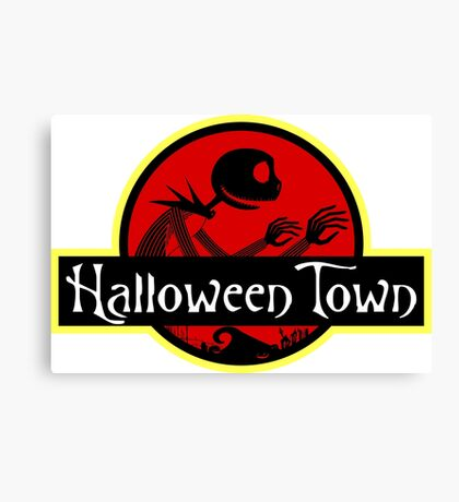 Welcome to Halloween Town Canvas Print