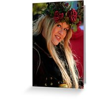 Crowned By Nature Greeting Card