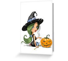 Cute Sexy LIttle Witch Greeting Card